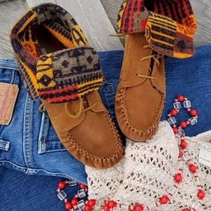 American Rag Fold Over Moccasin Boots